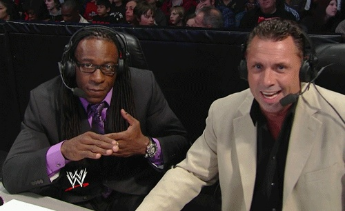 The Book abides    #wrestling  #wwe  #smackdown  #booker #t #michael #cole  #gif