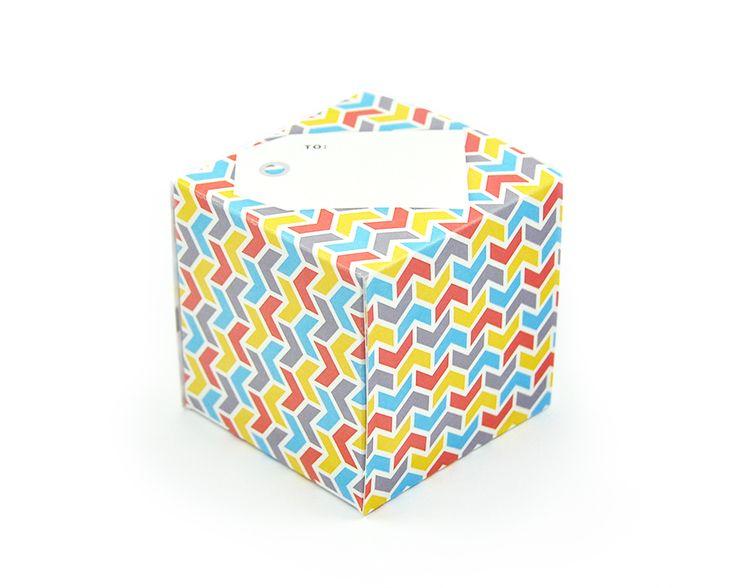 greetabl Zigs & Zags greeting card and gift box