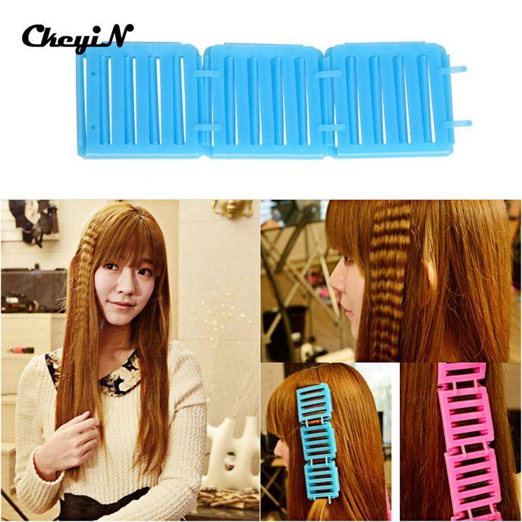 3 Pcs Hair Roller Corrugated Perm Folder Hair Maker Fluffy Hair Roller Clip Corn fashion modeling Not Hurt Hair ABS Resin