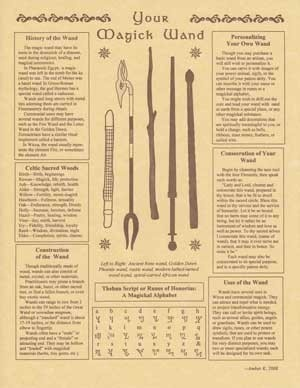 Your Magick Wand Parchment Book of Shadow Page or Poster!