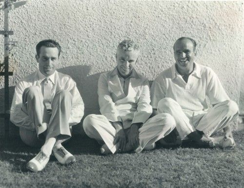 Harold Lloyd, Charles Chaplin and Douglas Fairbanks. 1920s.