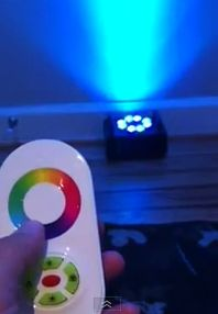 WIRELESS uplight controller remote with color wheel $23 goboprojectorrental.com/wireless-uplight-rentals/