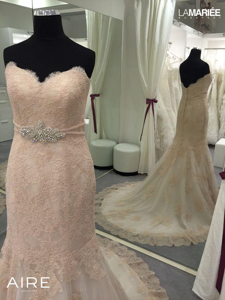 Esküvői ruha Amelie púder színben http://lamariee.hu/eskuvoi-ruha/aire-2015/amelie