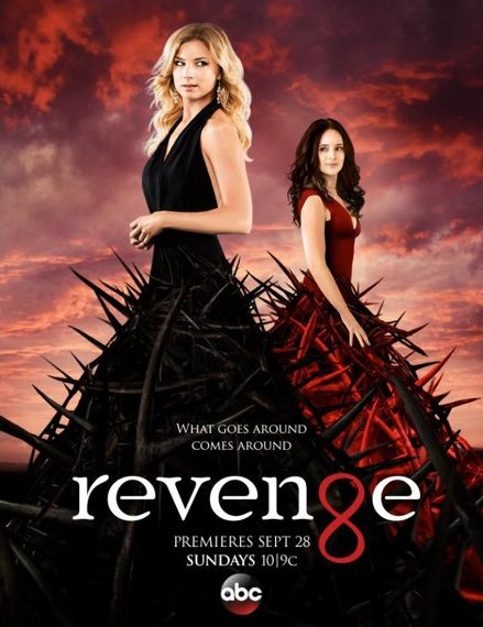 "Revenge Season 4 Poster | Victoria Grayson and ""Emily Thorne"", though Emily Thorns would be... more appropriate here"