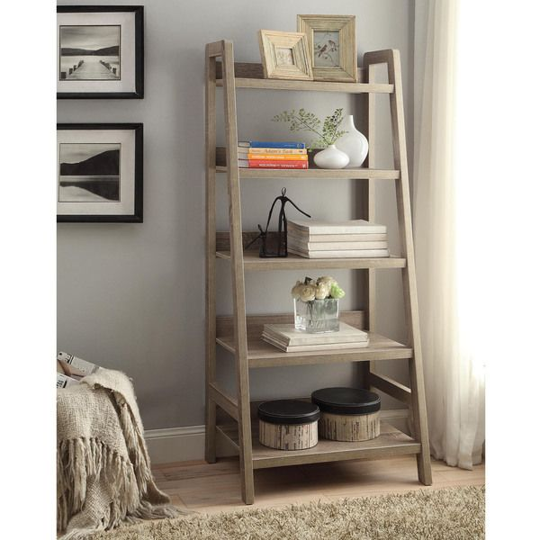 For rustic, convenient, and compact storage, the Dublin ladder back bookcase is the perfect design for your home. This bookcase has 5 shelves in ladder design, perfect for displaying your favorite tre