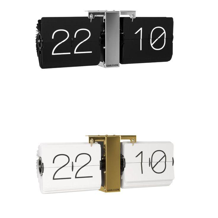 Deze klok is met zijn minimalistische retro-look niet alleen geschikt om de tijd weer te geven maar functioneert ook als een kleine tijdmachine. Je waant je zo in de jaren 70, toen op stations en vliegvelden de tijden en teksten nog op deze manier werden weergegeven. Dit coole designstuk is een nostalgisch cadeautje met stijl!