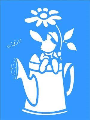 Stencil Regador Coelho 15x20 - OPA                                                                                                                                                                                 Mais