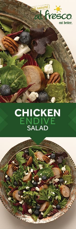 Looking for the perfect springtime salad recipe? Grab a package of al fresco fully cooked Chicken Sausage and try this Sweet Apple Chicken Sausage, Endive, & Blueberry Salad with Tossed Pecans. Ready in less than 15 minutes, it's fresh and flavorful!