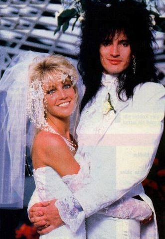Tommy Lee and Heather Locklear stole all the hair and 80s style for their wedding in May 1986.
