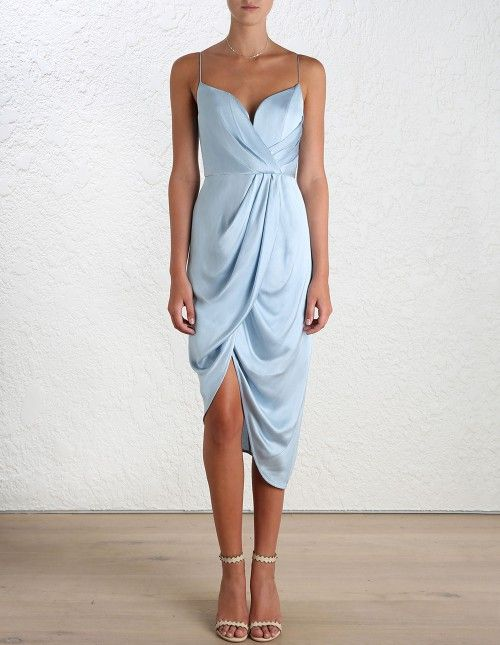 >> Click to Buy << PADEGAO Elegant empire waist sexy strapless strap satin dress 2016 Australia Ladies asymmetric Hem women's evening party dresses #Affiliate