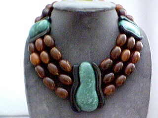 Monies oversize wooden necklace - Brown