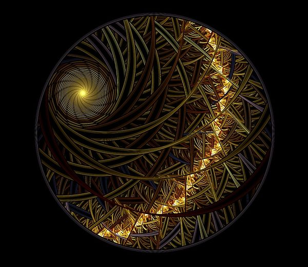 Fractal Digital Art - The Sun And The Earth by Elena Ivanova IvEA    #ElenaIvanovaIvEAFineArtDesign #Print #Decor #Interior #Fractal #Abstraction
