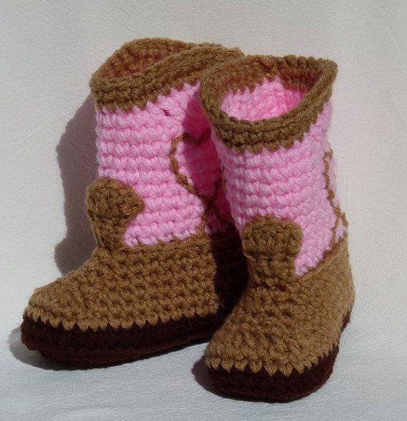 Botas de vaquera bebé rosa elija un tamaño de