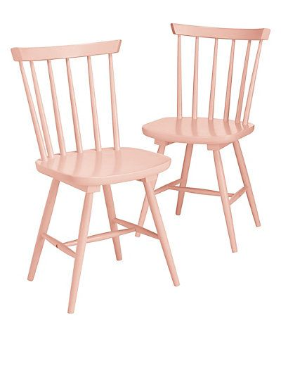 2 Dinton Coral Chairs   M&S