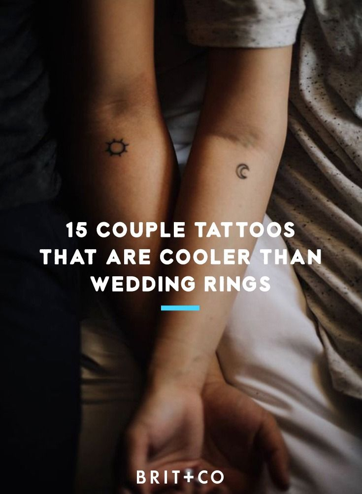 15 couple tattoo ideas that are cooler than wedding rings.