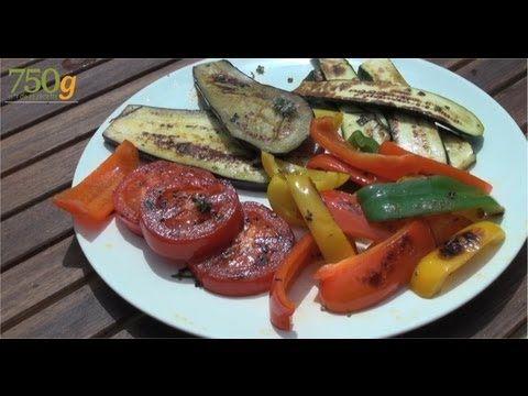 Recette de Légumes grillés à la plancha - 750 Grammes - YouTube
