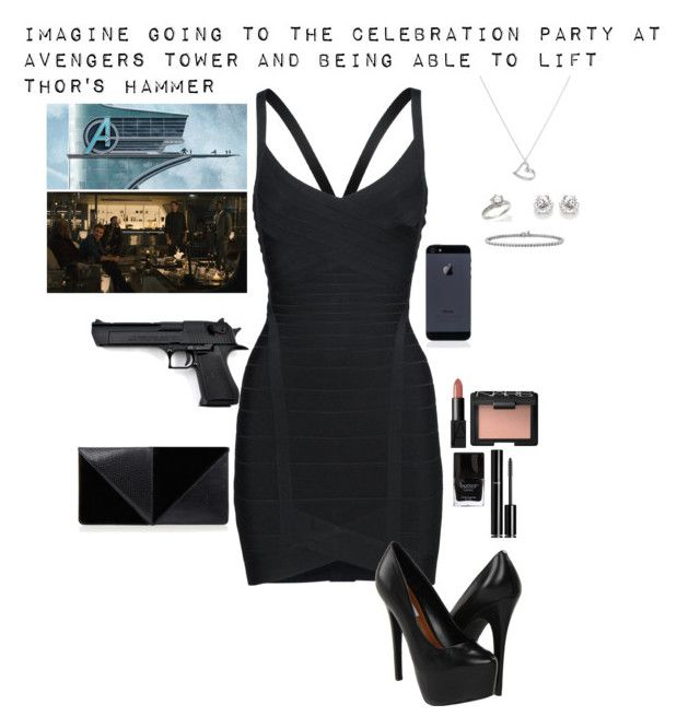 """""""Imagine"""" by gone-girl ❤ liked on Polyvore featuring Hervé Léger, Quiksilver, Steve Madden, Argento Vivo, Blue Nile, Tiffany & Co., NARS Cosmetics, UN United Nude, Butter London and Chanel"""