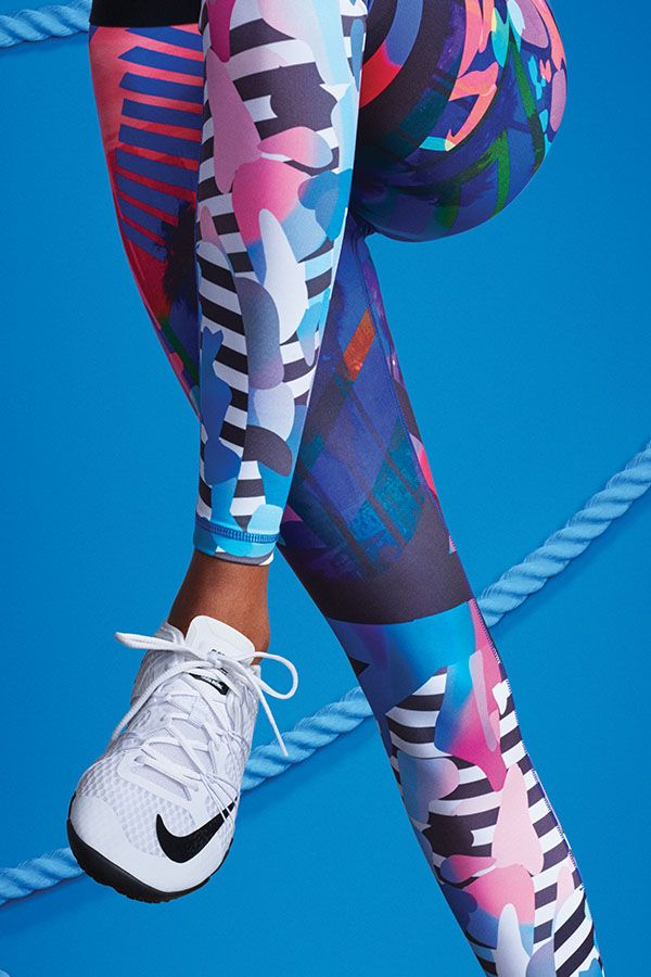 Energize your workout with a print inspired by the laid-back beach and eclectic glamour of LA. Shop the Nike Tight of the Moment x N+TC Tour Los Angeles.