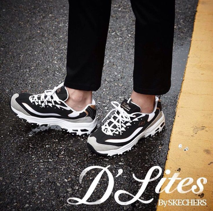 skechers d lites red