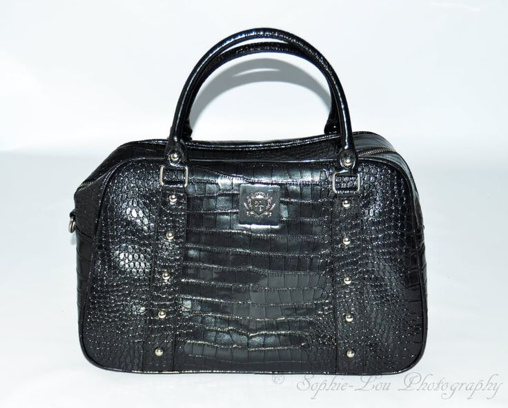 Beautiful black faux croc style changing/# diaper #bag.
