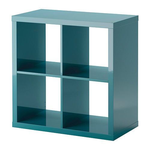 New Ikea Storage Cube Unit High Gloss Turquoise Kallax Book Shelves Sold Out! #IKEA