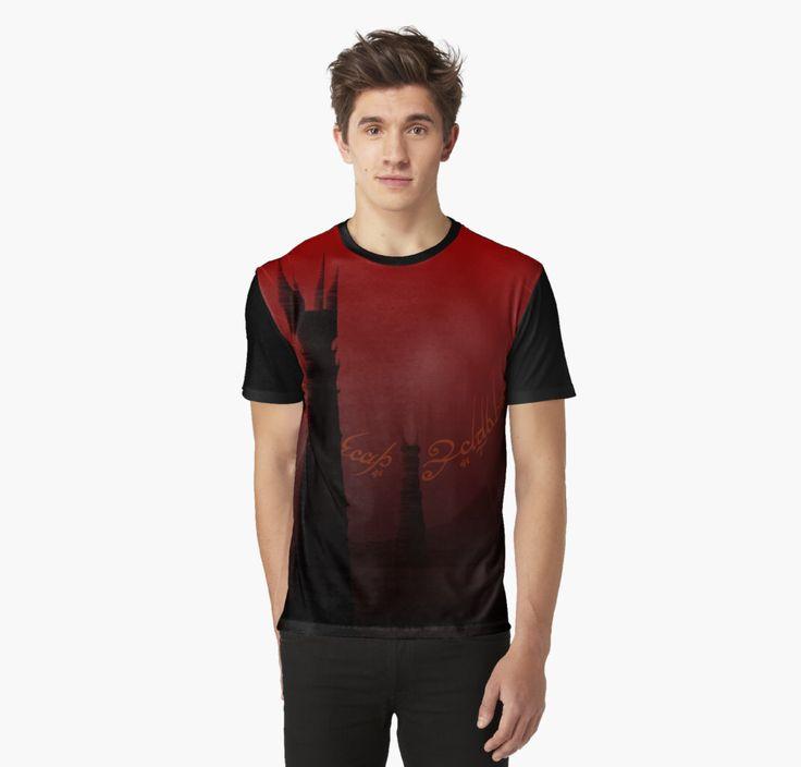 The road to Mount Doom Graphic T-Shirt by Scar Design #lotr #tshirt #Redbubble#dark #lordoftherings #lotrtshirt #graphictshirt