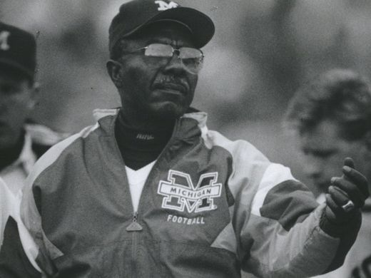 Tirrel Burton, assistant with UM football program from 1970 to 1991 died in 2017. RIP.  Go Blue!   Photo Julian H. Gonzalez, Detroit Free Press