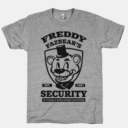 Freddy Fazbear's Security | HUMAN | T-Shirts, Tanks, Sweatshirts and Hoodies