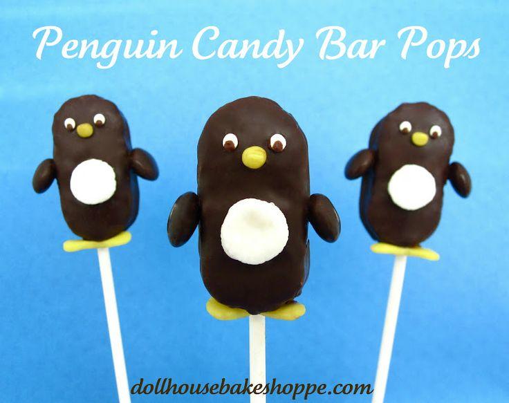 Dollhouse Bake Shoppe: Mounds Candy Bar Penguin Pops