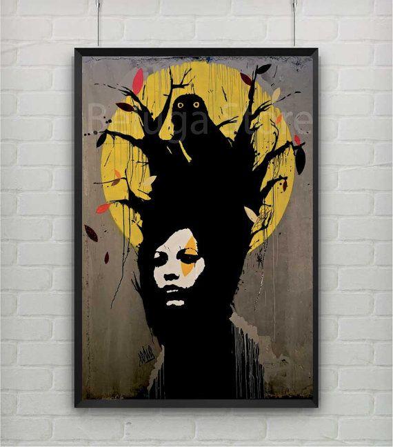 Banksy print style street art,stencil,graffiti wall decor poster
