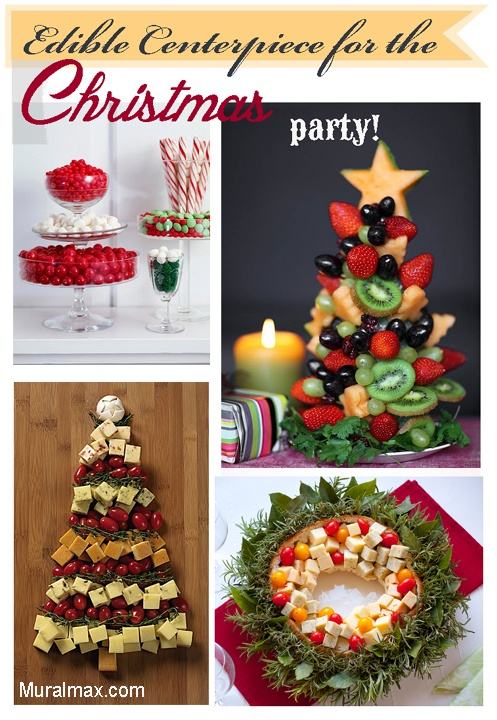 Edible Centerpiece for your Christmas party . http://muralmax.com
