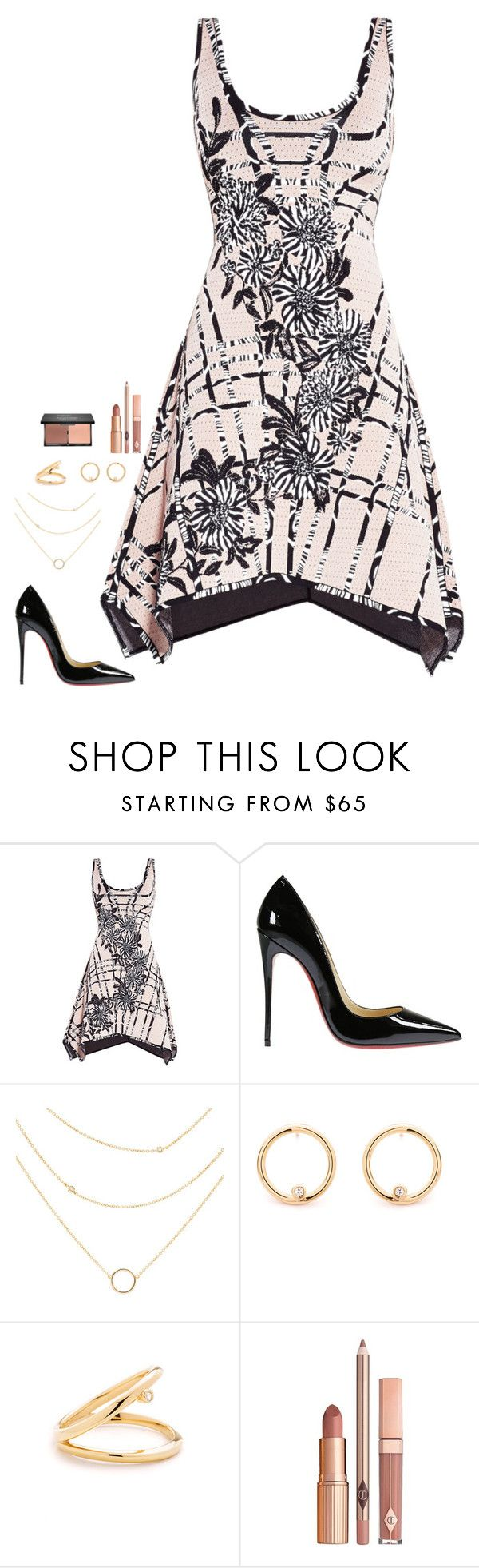"""""""Untitled #728"""" by h1234l on Polyvore featuring Hervé Léger, Christian Louboutin and Dolce Vita"""