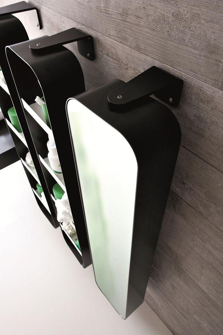 meuble pour salle de bain haut avec rangement avec miroir collection tulip by arblu luminaire. Black Bedroom Furniture Sets. Home Design Ideas