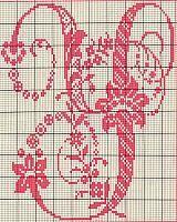 Ancient old cross stitch alphabet (23)