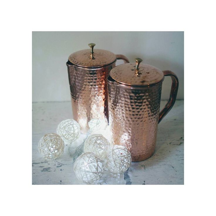 beautiful copper water vessels I received from @shantivashop   did you know copper water vessels have been used for centuries as a way  to alkalize and mineralize drinking water...cheers!    #shantiva #copper #alkaline  #water #vegan #vegetarian #ayurvedic