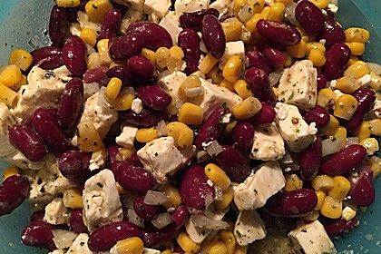 Rote Bohnen - Schafskäse - Salat 1