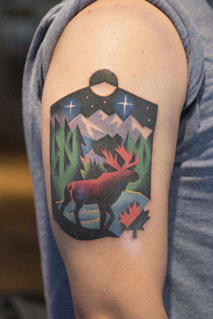 Tribute to Canada By David Cote at Imperial Tattoo Connexion in Montreal, Canada