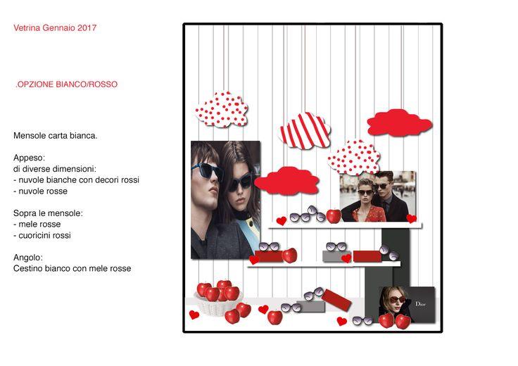 Progetto Vetrine Ottica Radrizzani Gennaio 2017 by Emanuela Terraneo Design www.emanuelaterraneo.com