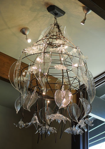 Chandelier And Panel Ginny Ruffner