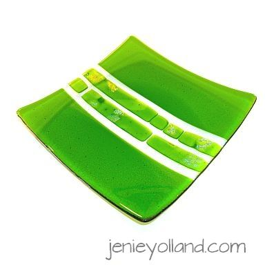SPARKLING CHLOROPHYLL fabulous glass series, this one is 20cms x 20cms, available in every size by jenie yolland.