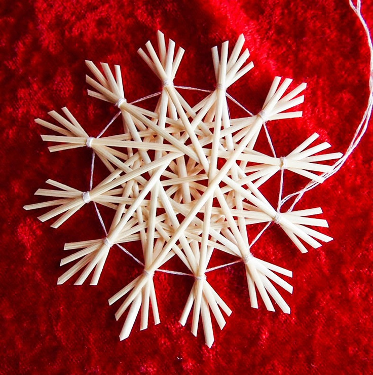 Traditional German straw star ornament.