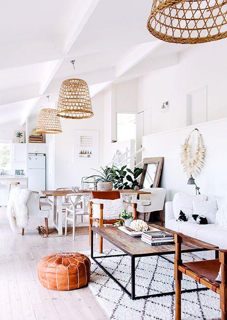 White rustic interior