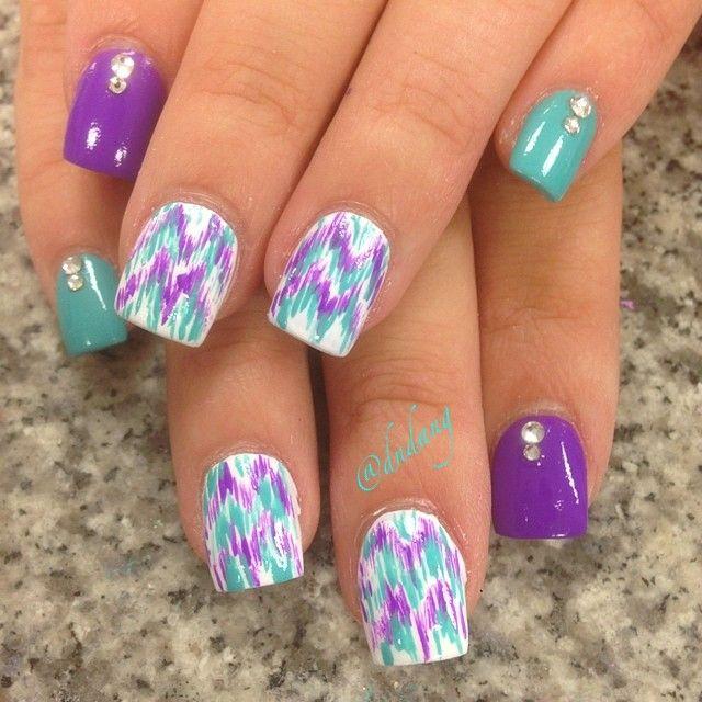 Kbshimmer Spring 2014 Chevron Dot Nail Art Easter Design: 29 Best Nail Designs Images On Pinterest