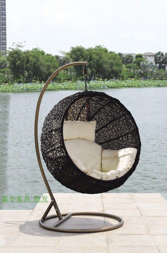 Bird nest rocking chair hanging basket rattan chair swing