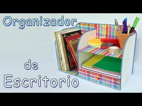 Manualidades: Organizador de Escritorio - Manualidades Para Todos - YouTube