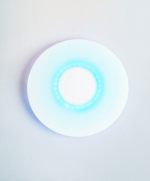 Zen Circle ring lamp colorful white acrylic glass by herywalery