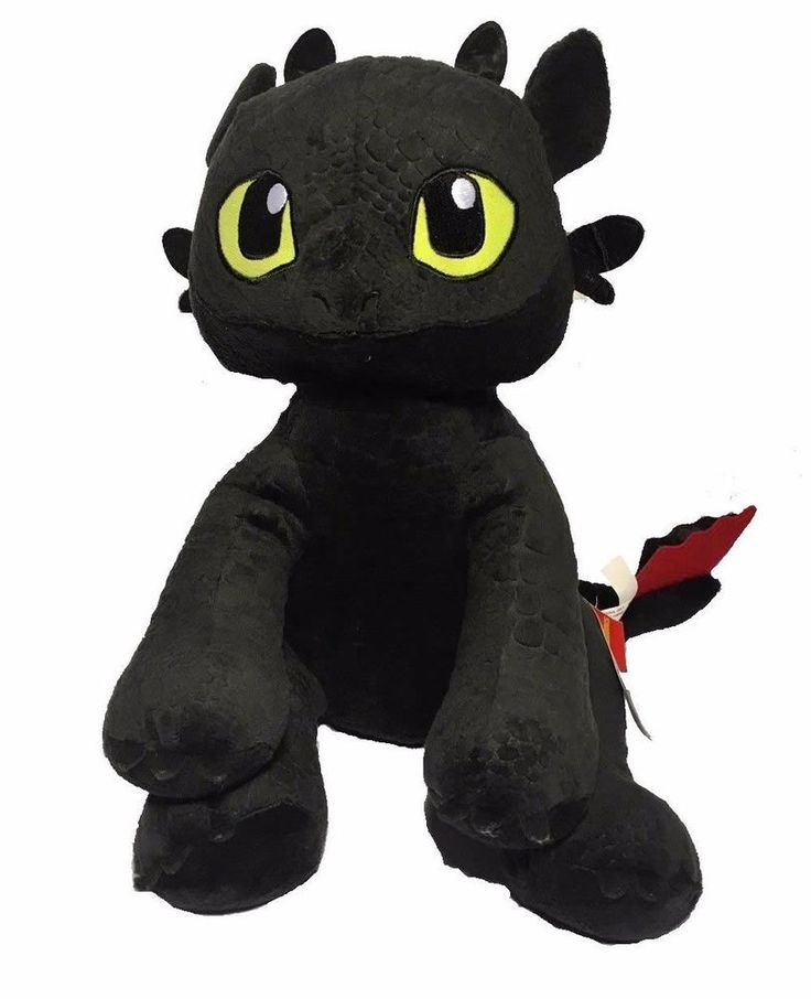 Build A Bear Toothless How To Train Your Dragon Black Plush Stuffed Animal Toy #BuildABear #AllOccasion