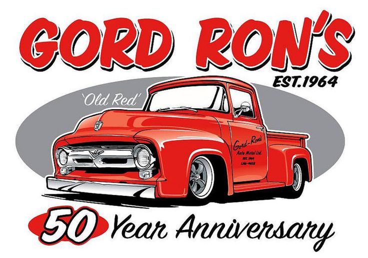 53 Ford Truck vector art for a car tshirt design