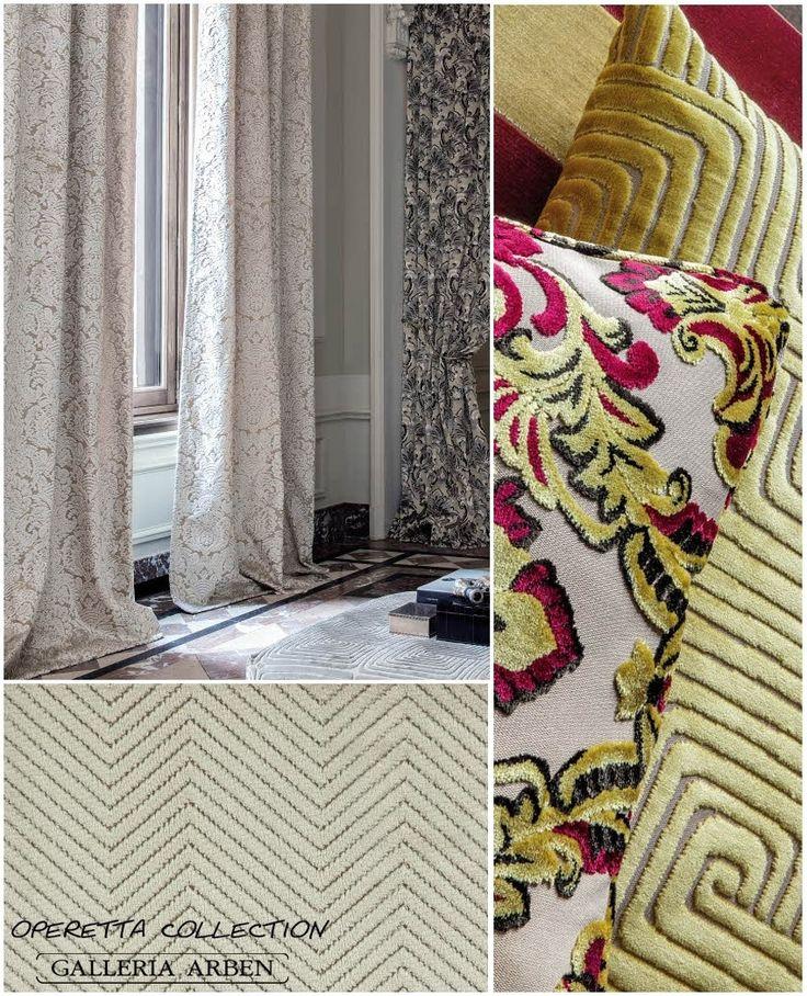 #новинки #Galleria_Arben: коллекция универсального жаккардового бархата Operetta с эффектом 3D. Со склада в Москве #fabric #velvet #ткани