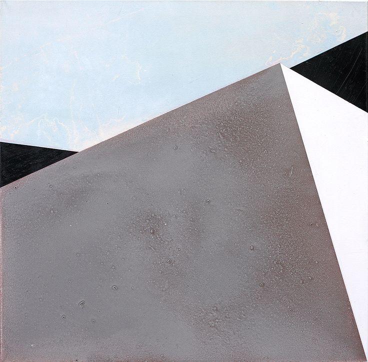 """""""Ecken"""", 100 x 100 cm, acrylic and oil on canvas, Marco Kaufmann 2015"""